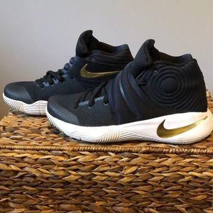 Nike Kyrie 2 Black and Gold Customized